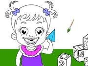 Baby Hazel Coloring