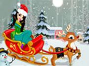 Christmas Girl with Reindeer Dress Up