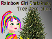 Rainbow Girl Chrismas Tree Decoration