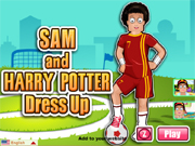 Sam and Harry Potter Dress up