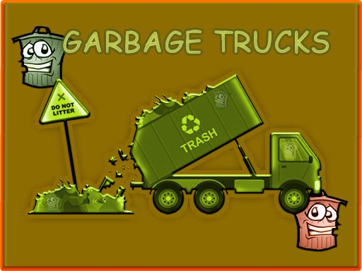 Garbage Trucks - Hidden Trash Can
