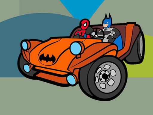Superhero Cars Coloring Book