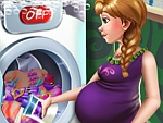 Anna Pregnant Laundry Day