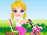 Baby Girl Bicycle Ride