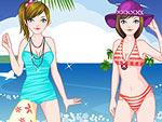 Beach Babe Twins Dress Up