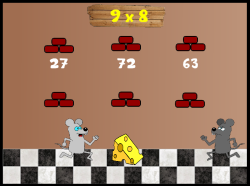 Cheese Race | Elementary Multiplication Game