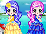 Chic Twin Sisters Dress Up
