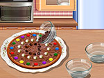 Chocolate Pizza Cooking
