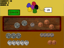 Coins for Candy | Money Counting Game | Coin Counting | RoomRecess.com