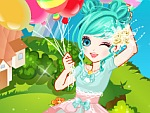 Colorful Balloon Girl Dress Up