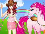 Cool Girl and Horse Dress Up