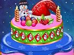 Creamy Christmas Cake Decor