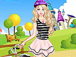 Cute Doll Bike Ride Dress Up