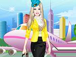 Cute Doll Flight Attendant Dress Up