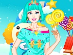 Cute Doll in Candyland Dress Up