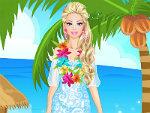 Cute Doll in Hawaii Dress Up
