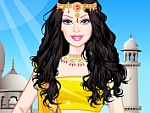 Cute Doll Indian Princess Dress Up