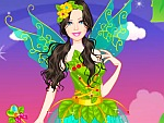 Cute Doll Tinkerbell Princess Dress Up