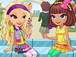 Cute School Girls Dress Up
