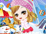 Cute Snowball Fighter Dress Up