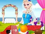 Elsa Bride Cooking Wedding Dish