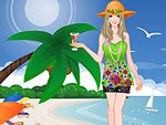 Fashion Girl at Karon Beach Dress Up