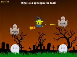 Ghosts in the Graveyard | Synonyms and Antonyms | Free Reading Game