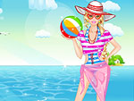 Girl at the Beach Dress Up