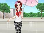 Girl in the Rain Dress Up