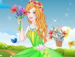 Gorgeous Flower Princess Dress Up