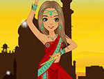 Indian Elements in Fashion Dress Up