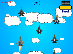 Jet Reduction | Reducing Fractions | Free Math Game for Elementary Students