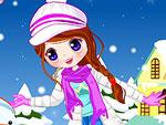 Joyful Snow Doll Dress Up