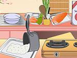 Mia Cooking Sushi Rolls