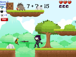 Number Ninja   Basic Facts, Integers, & Two-Step Equations