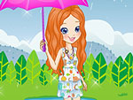 Polly in the Rain Dress Up