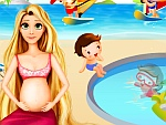 Pregnant Rapunzel Pool Party