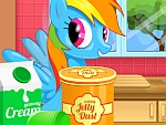 Rainbow Dash Cooking MM Cake