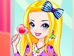 Rainbow Girl with Lollipop Dress Up