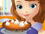 Sofia the First Cooking Pumpkin Tart