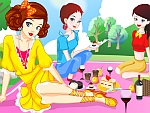 Spring Picnic with Girls Dress Up