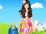 Summertime Cute Doll Dress Up