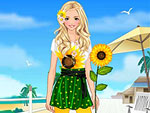 Sunflower Princess Dress Up