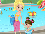 Swimming with Mom Dress Up