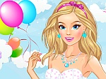 The Girl with Balloons Dress Up