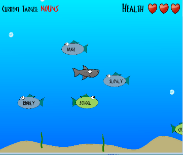 Word Shark | Parts of Speech | Free Language Arts Game for Kids & Elementary Students