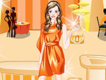 Yellow and Orange Party Dress Up