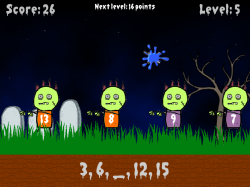 Zombie Paintball | Number Patterns | Skip Counting Elementary Math Game