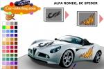 Alfa Romeo Spider Coloring