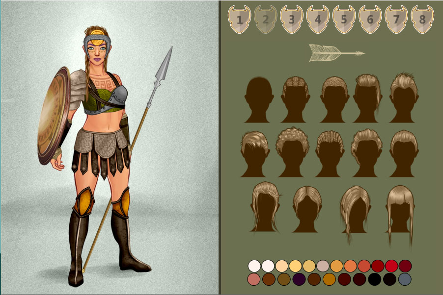Amazon Warrior dress up game